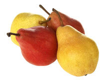 Ripe Yellow and Red Pears Stock Photo