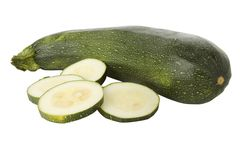 Ripe zucchini or courgette Royalty Free Stock Photo
