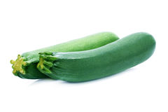 Ripe zucchini isolated on a white. Royalty Free Stock Photo