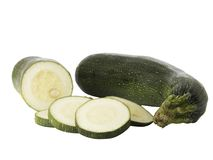 Ripe zucchinis or courgettes Stock Images