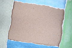 Riped old paper frame background Royalty Free Stock Photo