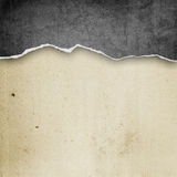 Riped vintage paper Royalty Free Stock Photo