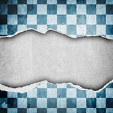 Riped vintage paper on grunge background Stock Image