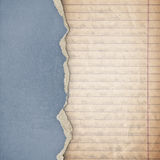 Riped vintage paper Royalty Free Stock Images