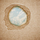 Riped vintage paper on grunge background Stock Photos