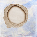 Riped vintage paper on grunge background Stock Photography