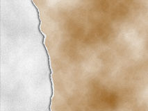Riped-Weinlesepapier auf heftigem altem Papier des Schmutzes Hintergrund Stockfoto