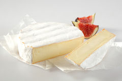 Ripened soft creamy French Camembert cheese Royalty Free Stock Photo