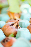 Ripening medlar fruit Royalty Free Stock Images