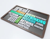 Ripensando, concetto di parola di tattica 3d Immagine Stock Libera da Diritti