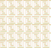 Ripetendo labirinto come progettazione rossa e verde su bianco Fotografia Stock Libera da Diritti