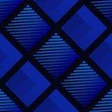 Ripetendo modello blu astratto - un modello senza cuciture di vettore con struttura geometrica che somiglia al tessuto Fotografia Stock Libera da Diritti
