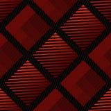 Ripetendo modello rosso astratto - un modello senza cuciture di vettore con struttura geometrica che somiglia al tessuto Immagini Stock Libere da Diritti