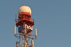 Ripetitore italiano della televisione di RAI fotografie stock libere da diritti