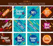 Ripetitore sociale multiuso del corredo di media illustrazione di stock