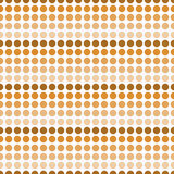 Ripetizione arancio e bianca di Dot Abstract Design Tile Pattern di Polka Illustrazione di Stock