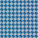 Ripetizione del blu arancio del modello Immagini Stock
