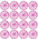 Ripetizione del reticolo dei fiori Fotografia Stock