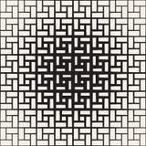 Ripetizione del semitono di rettangolo Struttura geometrica moderna della grata Modello monocromatico senza cuciture di vettore royalty illustrazione gratis