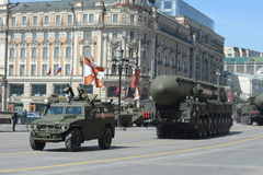 Ripetizione della parata in onore di Victory Day a Mosca Fotografia Stock