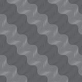 Ripetizione la luce diagonale dell'ornamento e dell'ondulato grigio scuro Immagini Stock