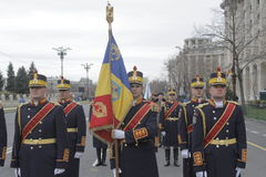 Ripetizione per la parata rumena di festa nazionale Fotografie Stock Libere da Diritti