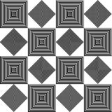 Ripetizione quadrata in bianco e nero geometrica illustrazione vettoriale