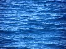 Riples, waves on blue sea Royalty Free Stock Photos