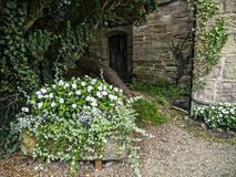 Ripley是一个村庄和民用教区在北约克郡在英国,在Harrogate北部的一些英里 建于的城堡第15 免版税库存图片