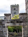 Ripley是一个村庄和民用教区在北约克郡在英国,在Harrogate北部的一些英里 建于的城堡第15 库存照片