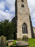 Ripley是一个村庄和民用教区在北约克郡在英国,在Harrogate北部的一些英里 建于的城堡第15 库存图片