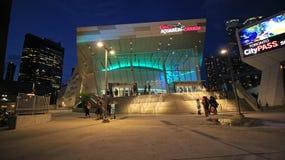 Ripley的水族馆在街市多伦多在加拿大国家电视塔和罗渣士中心7-25-2018旁边位于 免版税库存图片