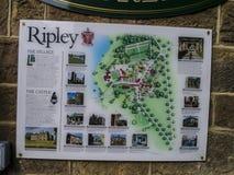 Ripley es un pueblo y una parroquia civil en North Yorkshire en Inglaterra, algunas millas al norte de Harrogate Una datación del Fotografía de archivo libre de regalías