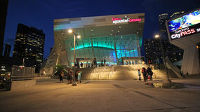 Ripley's Aquarium in Downtown Toronto is located next to the CN Tower and Rogers Centre 7-25-2018 Royalty Free Stock Image