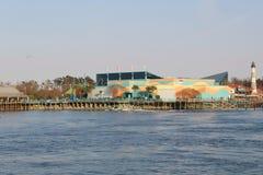 Ripley's Aquarium overlooking the ocean stock image