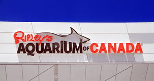 Ripley's Aquarium Sign Royalty Free Stock Photo