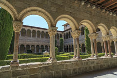 Ripoll monastery cloister Royalty Free Stock Images