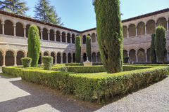 Ripoll monastery cloister Stock Image