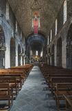 Ripoll monastery Interior overview Stock Image