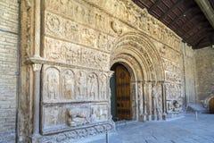 Ripoll monastery original facade Stock Photography
