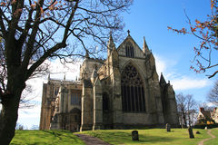 Ripon Cathedral. Is the seat of the Bishop of Ripon and Leeds and the motherchurch of the Diocese of Ripon and Leeds, situated in the small North Yorkshire city Stock Photos