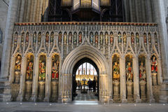 Ripon Cathedral interior decoration royalty free stock photos