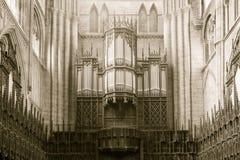 Ripon Katedralnych organów sepiowy brzmienie Obrazy Stock