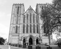 Ripon-Kathedralen-Westostfassade Stockfoto
