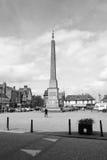 Ripon-Obeliskschwarzweißfotografie A Stockfotografie