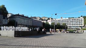 Riponne de vue de Lausanne Images libres de droits