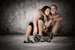 Riposo atletico delle coppie Immagine Stock