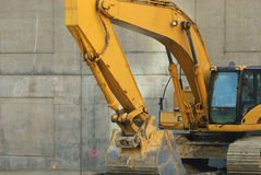 Riposo dell'escavatore a cucchiaia rovescia Immagini Stock Libere da Diritti