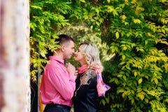 Riposo per due persone nel parco Amore Fotografie Stock