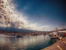 Riposto's harbour Royalty Free Stock Image
